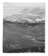 Colorado Continental Divide Panorama Hdr Bw Fleece Blanket