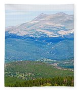 Colorado Continental Divide Panorama Hdr Crop Fleece Blanket