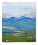 Colorado Continental Divide Panorama Hdr Fleece Blanket