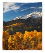 Colorado Gold Fleece Blanket