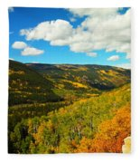 Colorado In Autumn Fleece Blanket