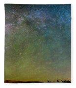 Colorado Indian Peaks Milky Way Panorama Fleece Blanket