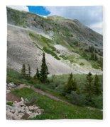 Colorado Mountain Landscape Fleece Blanket