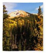 Colorado Mountains Fleece Blanket