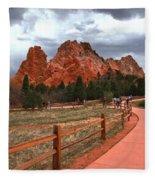 Colorado Path To Paradise Fleece Blanket