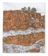 Colorado Red Sandstone Country Dusted With Snow Fleece Blanket