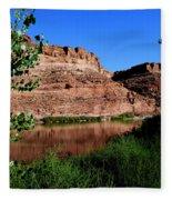 Colorado River At Moab Fleece Blanket