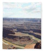 Colorado River From Dead Horse Point  Fleece Blanket