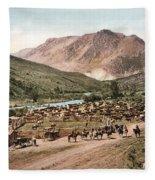 Colorado Roundup 1897 Fleece Blanket