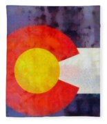 Colorado State Flag Weathered And Worn Fleece Blanket