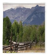 Colorado Wilson Peak Clouds Fleece Blanket