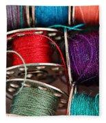 Colored Bobbins - Seamstress - Quilter Fleece Blanket
