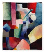 Colored Composition Of Forms   Fleece Blanket