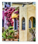 Colored Cottages By Diana Sainz Fleece Blanket