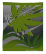 Colored Jungle Green Fleece Blanket
