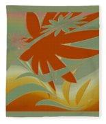 Colored Jungle Orange Splash Fleece Blanket