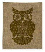 Colored Owl 3 Of 4  Fleece Blanket