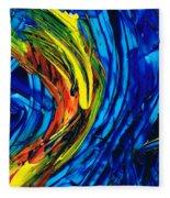 Colorful Abstract Art - Energy Flow 2 - By Sharon Cummings Fleece Blanket