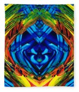 Colorful Abstract Art - Purrfection - By Sharon Cummings Fleece Blanket