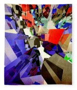 Colorful Abstract Geometric Cluster Fleece Blanket