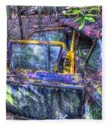 Colorful Antique Car 1 Fleece Blanket