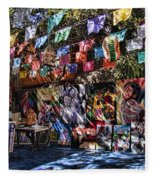 Colorful Art Store In Mexico Fleece Blanket