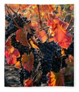 Colorful Autumn Grapes Fleece Blanket