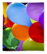 Colorful Balloons Fleece Blanket