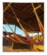 Colorful Beach Hammocks Fleece Blanket