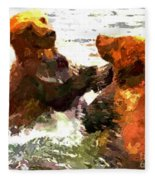 Colorful Bears Fleece Blanket