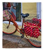Colorful Bike Fleece Blanket
