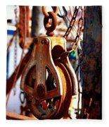 Colorful Boat Pully Fleece Blanket