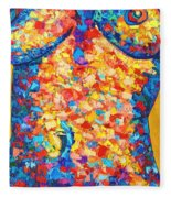 Colorful Bodyscape 1 Fleece Blanket