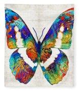 Colorful Butterfly Art By Sharon Cummings Fleece Blanket
