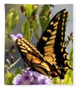 Colorful Butterfly Square Fleece Blanket