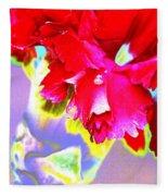 Colorful Carnation Fleece Blanket