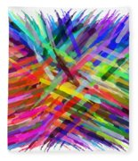 Colorful Cattails Fleece Blanket