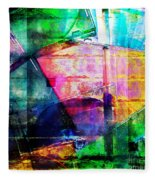 Colorful Cd Cases Collage Fleece Blanket