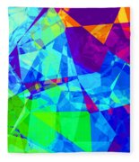 Colorful Chaos Fleece Blanket