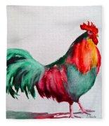 Colorful Chicken Fleece Blanket