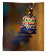 Colorful Clay Bells Fleece Blanket