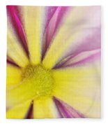 Colorful Clematis Fleece Blanket