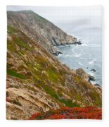 Colorful Cliffs At Point Reyes Fleece Blanket
