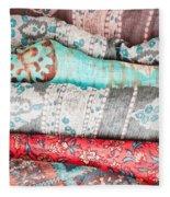 Colorful Cloths Fleece Blanket