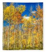 Colorful Colorado Autumn Aspen Trees Fleece Blanket