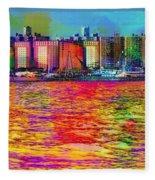 Colorful Coney Island Fleece Blanket