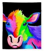 Colorful Cow-cow-a-bunga Fleece Blanket