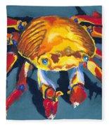 Colorful Crab Fleece Blanket