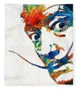 Colorful Dali Art By Sharon Cummings Fleece Blanket