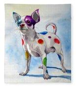 Colorful Dalmatian Chihuahua Fleece Blanket